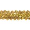 Sequin Stretch 3-row Hologram gold